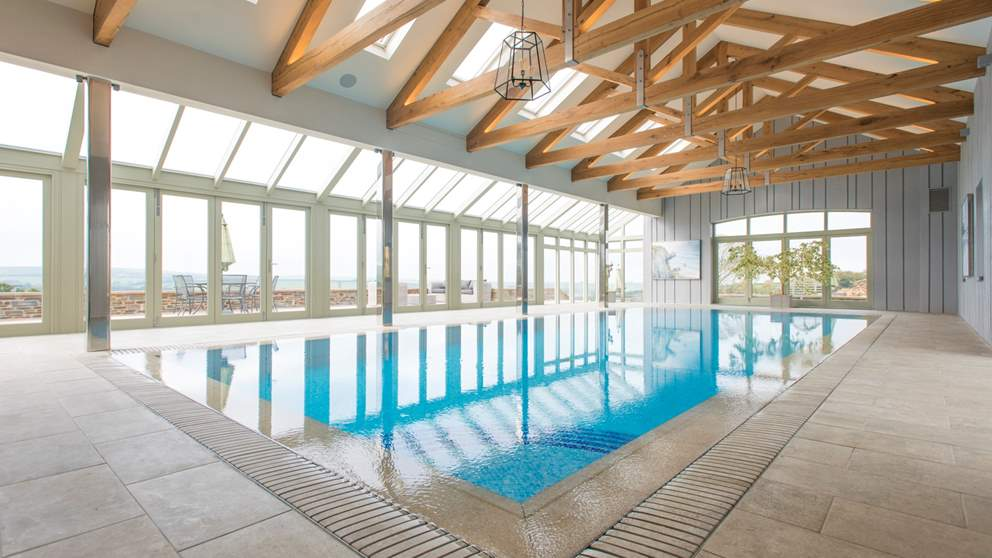 Trevear Linhay has shared use of a stunning heated indoor swimming pool and fantastic decking area overlooking the lush countryside.