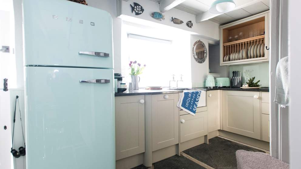 The small but perfectly formed kitchen.