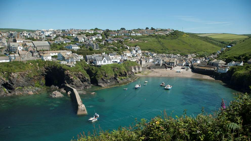 Pretty Port Isaac harbour is filled with fabulous places to eat, such as Restaurant Nathan Outlaw.