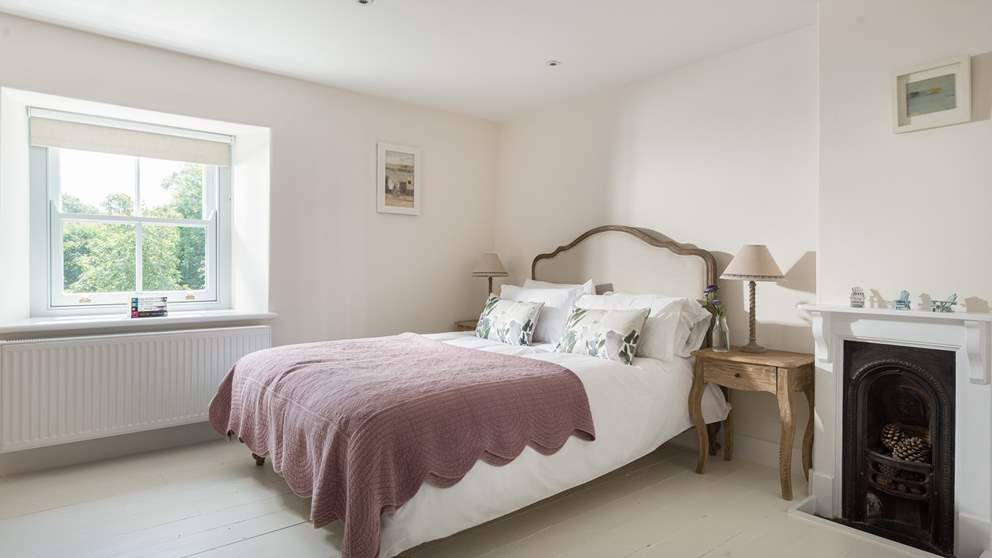 Pretty, vintage and luxurious, this lovely bedroom with garden views is just divine - we love the Loaf bed.