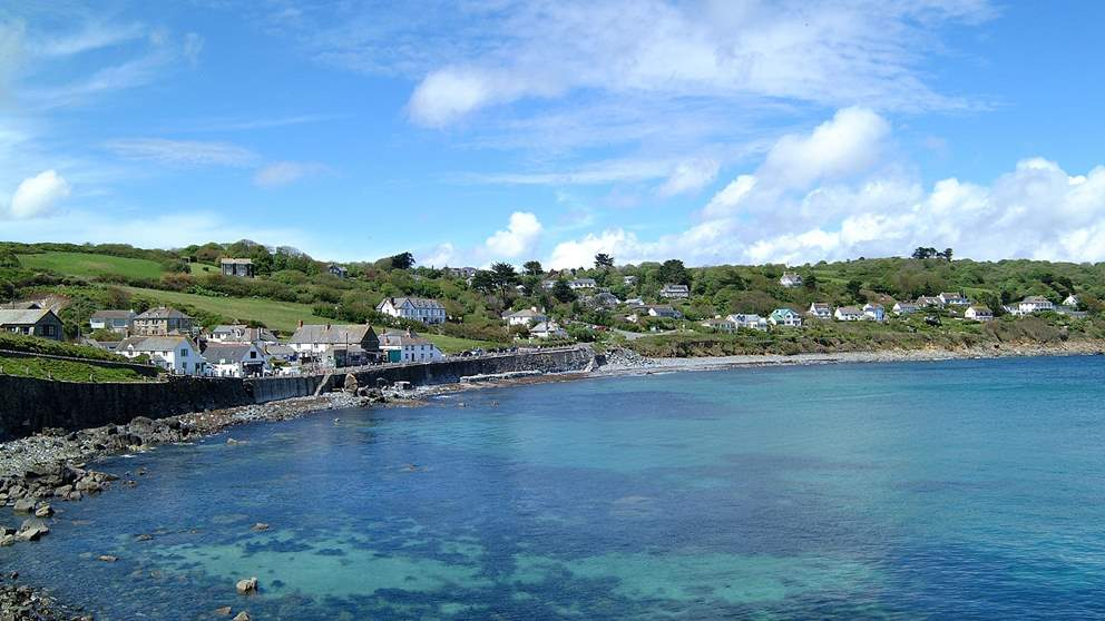 The nearby village of Coverack.