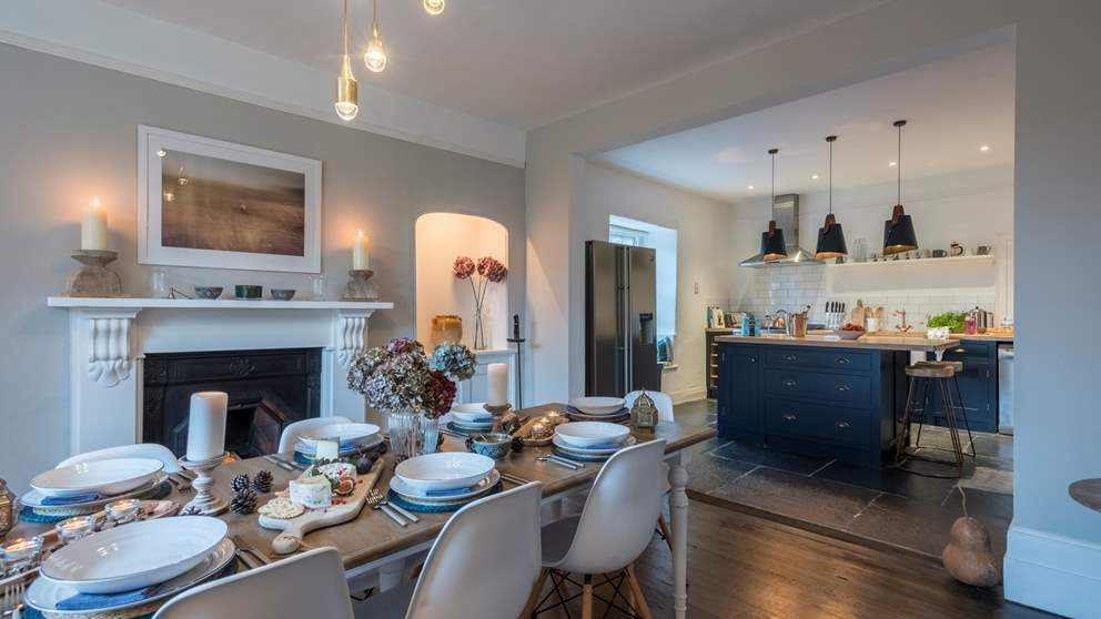 The incredible kitchen and dining room really is the heart of this amazing home.