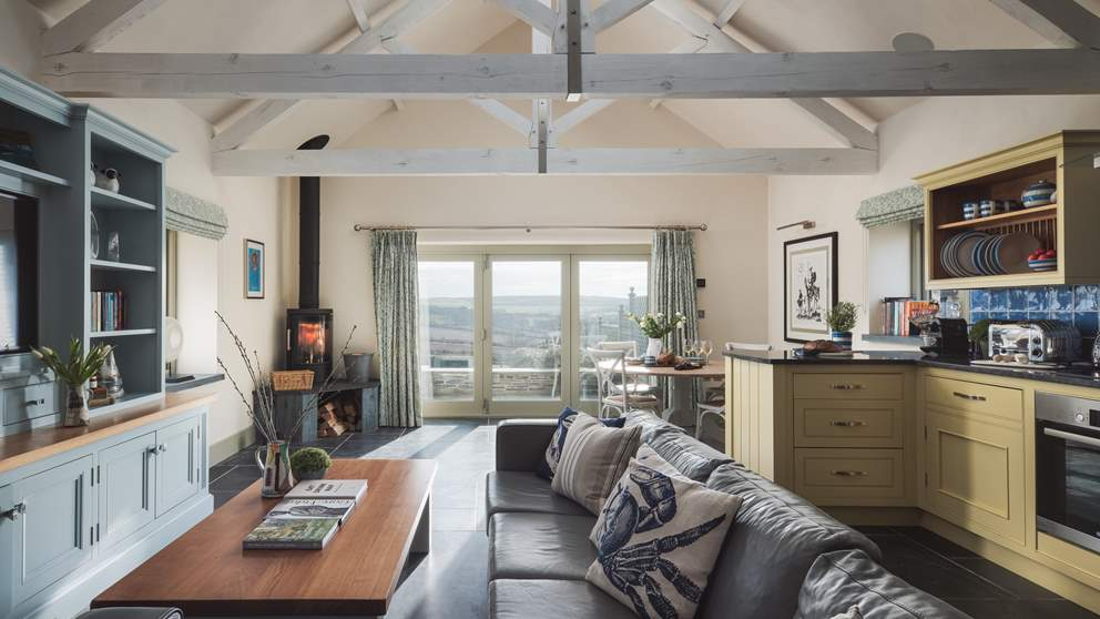 The open plan room makes for laid back living for families
