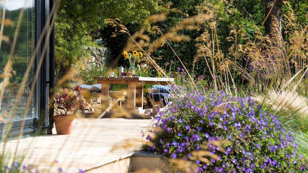 Enjoy a spot of alfresco dining in the utterly beautiful garden.