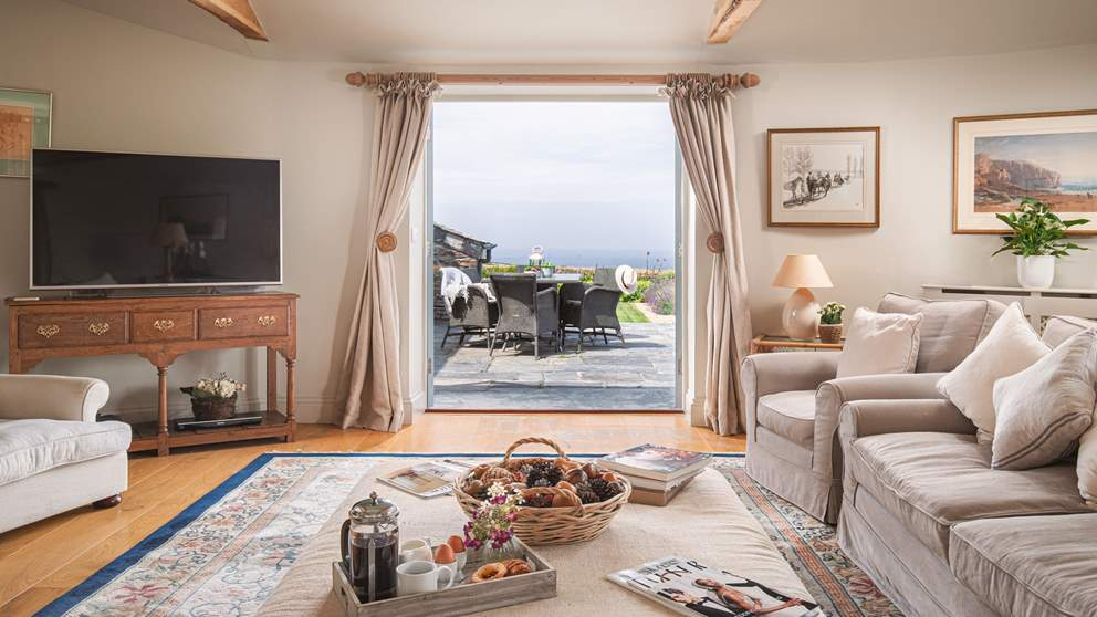 Floor-to-ceiling windows and those unbelievable views of the North Cornish coast.