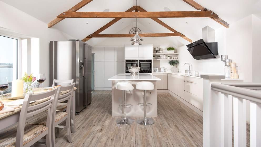 This lovely seaside home is a light, joyful space perfect for couples or families looking to explore beautiful south east Cornwall.