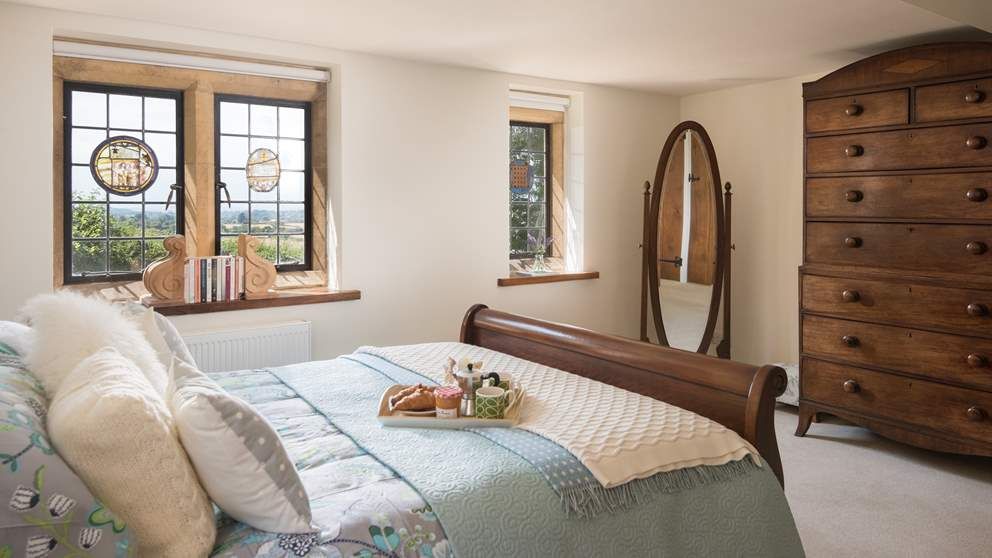 Wake up to that breathtaking countryside view of Somerset.