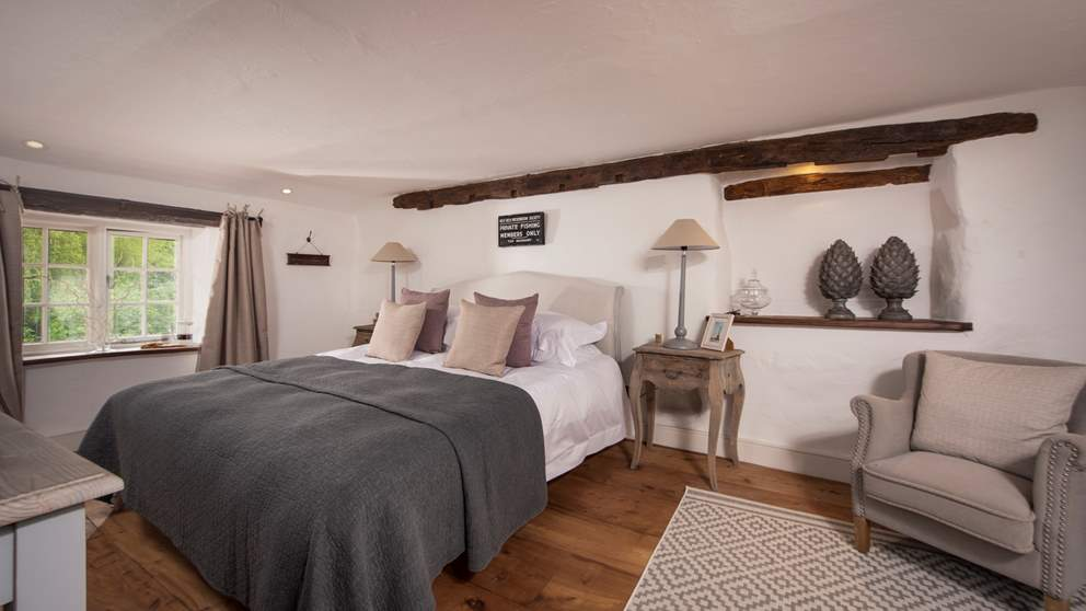 The master bedroom has an en suite shower room and a super-king bed for long, lazy lie-ins.