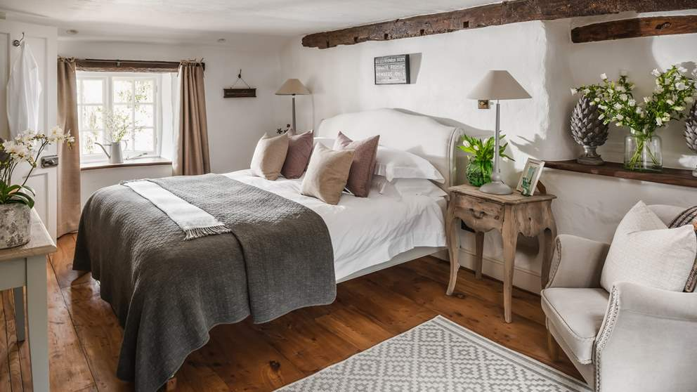 The wonderfully comfy super king bed in the master bedroom is just dreamy.