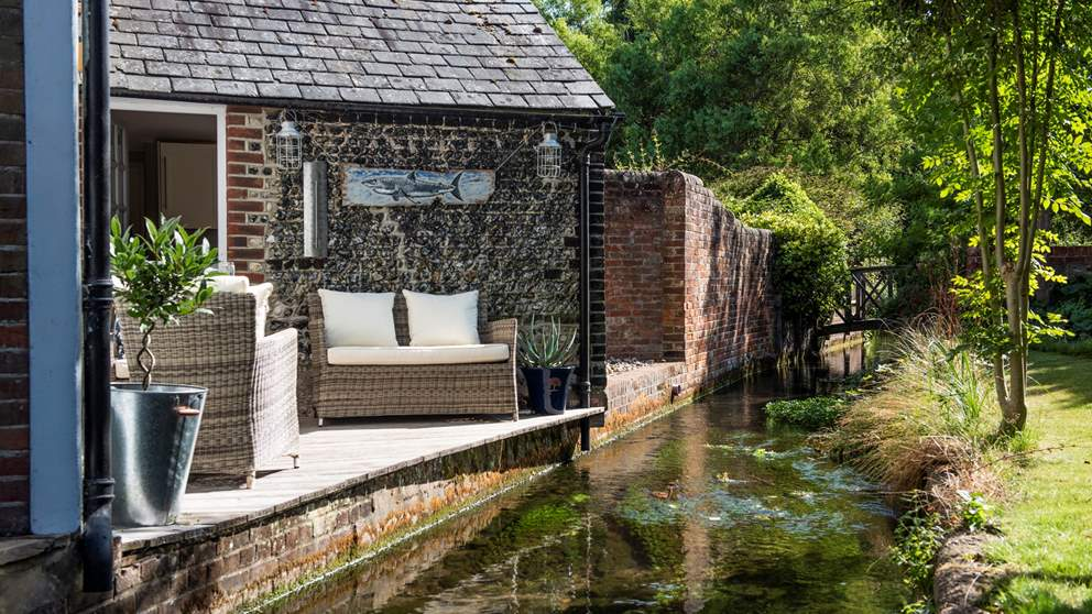 Chapel House has the joy of being situated next to a pretty little mill stream.