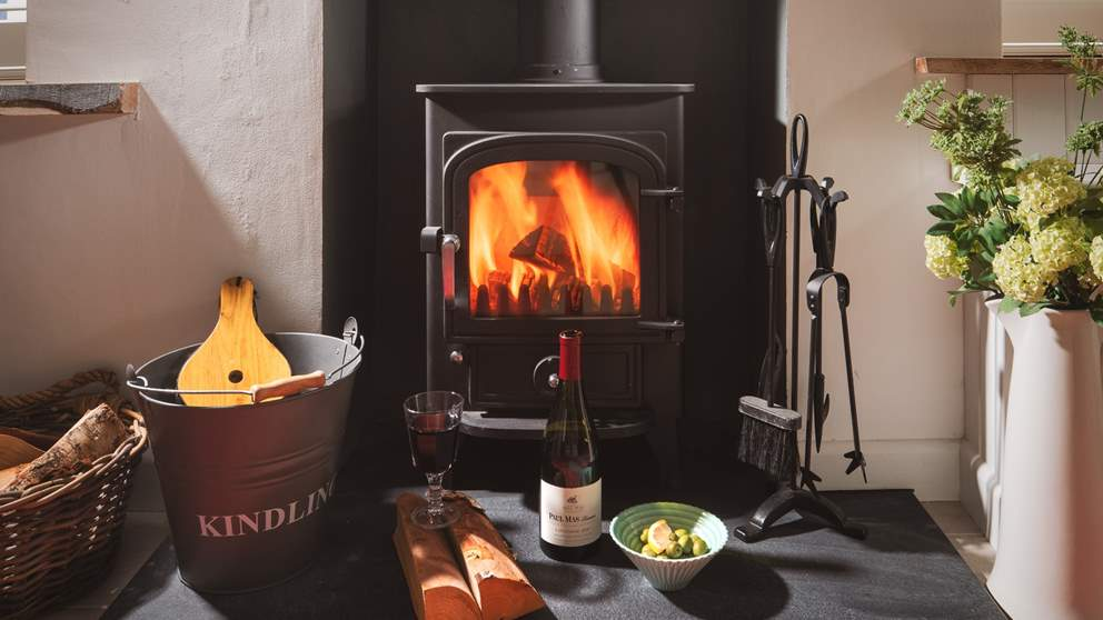 Curl up on the sofa in front of the toasty wood burner.