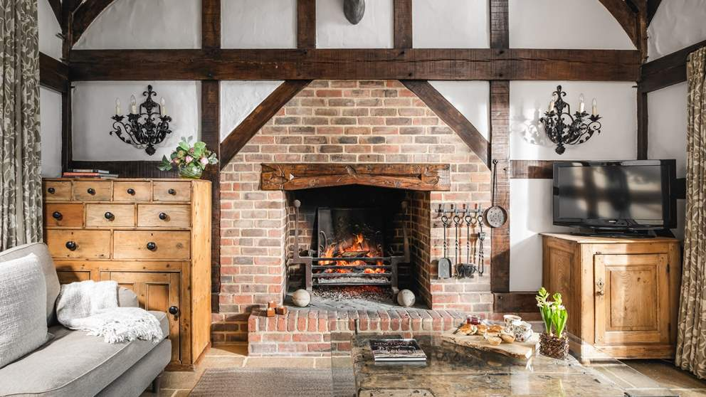 The huge, roaring open fire is just what's needed during the cooler months - so cosy!