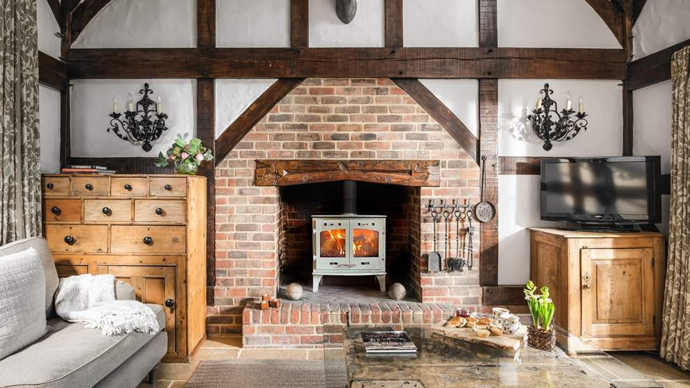 The roaring wood burner is just what's needed during the cooler months - so cosy!
