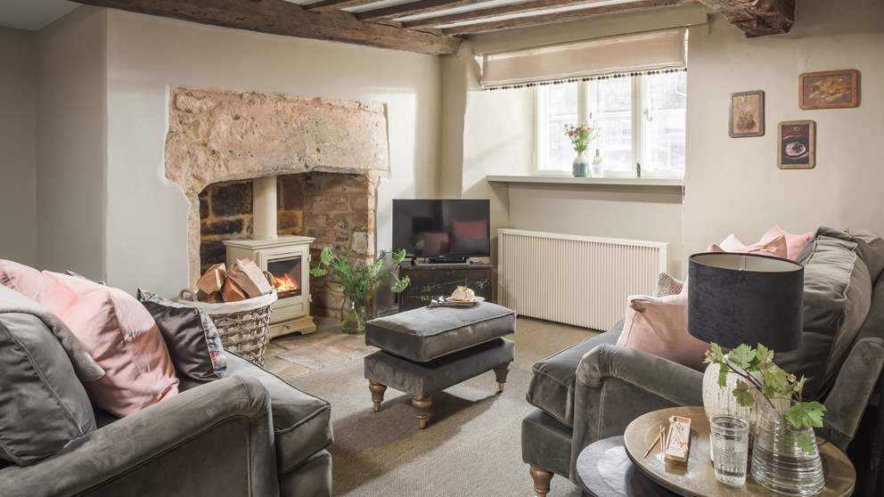 With its lovingly restored beamed ceiling and large feature fireplace, this room still retains all its original charm from when it was built back in the 16th century.