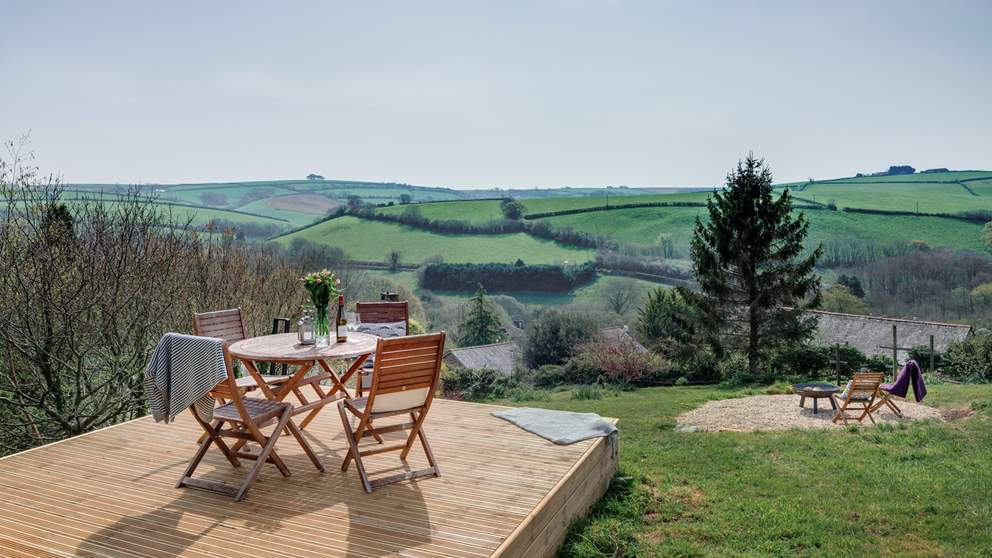 Enjoy a spot of lunch on the decking area.