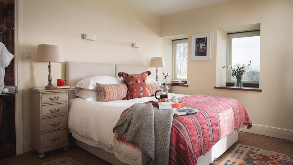 The master bedroom benefits from a super king bed, for long, luxurious lie ins