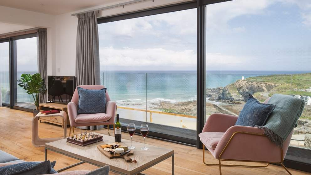 All of the rooms boast stunning views, and it doesn't get more panoramic than this!