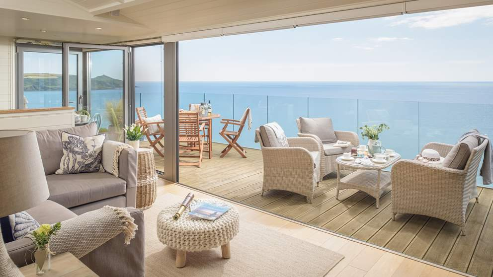 With bi fold doors, during warmer weather it's easy to bring the outside in