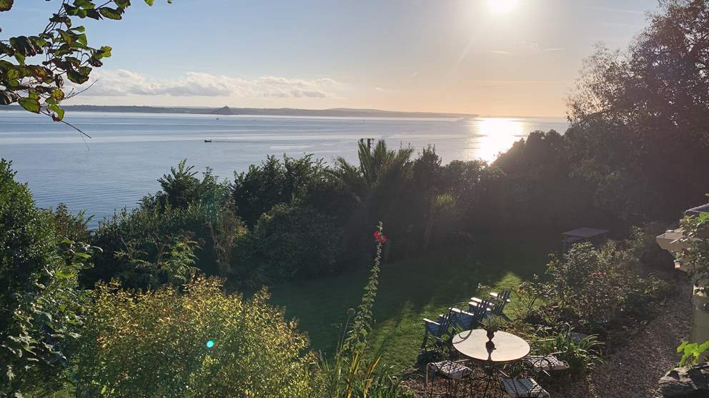 The simply stunning view across Mount's Bay towards St Michael's Mount - breath taking!