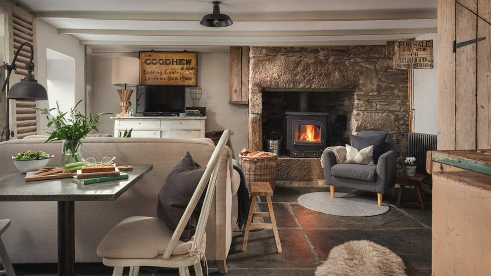 The wonderful sitting room is a blissful space in which to relax at the end of a busy day
