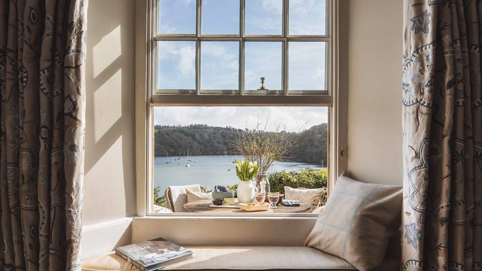 Enjoy dreamy views from the south-facing window seat