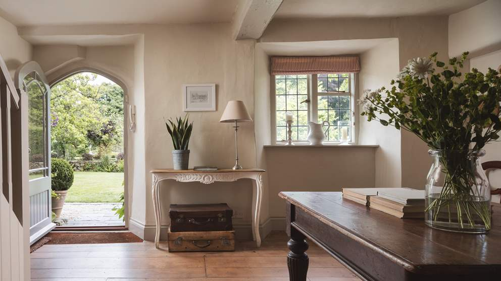 Inside, you'll find country chic interiors and calm spaces