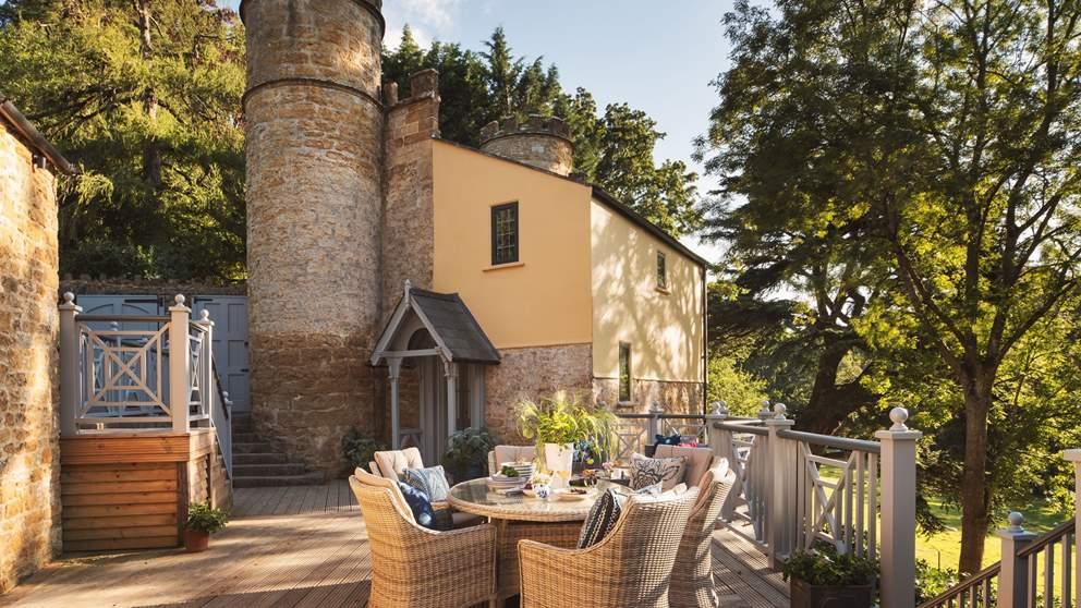 Sherborne Lodge is part of the incredible Compton Castle estate on the Somerset/Dorset border