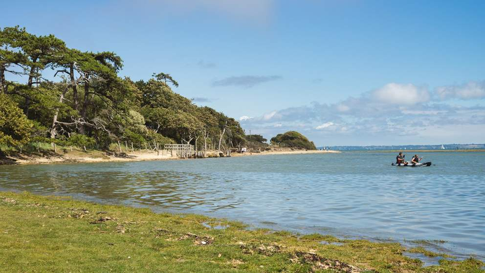 Explore the grounds, all the way down to the water's edge looking across to the Isle of Wight.
