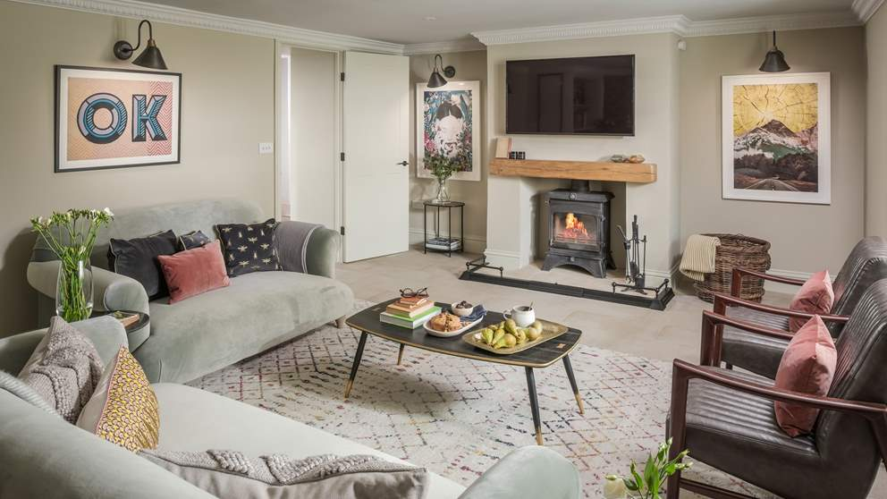 The large, welcoming sitting room is where you'll definitely want to relax at the end of the day