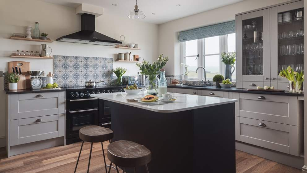 The stunning kitchen is a dream and bound to excite the budding and experienced chef alike
