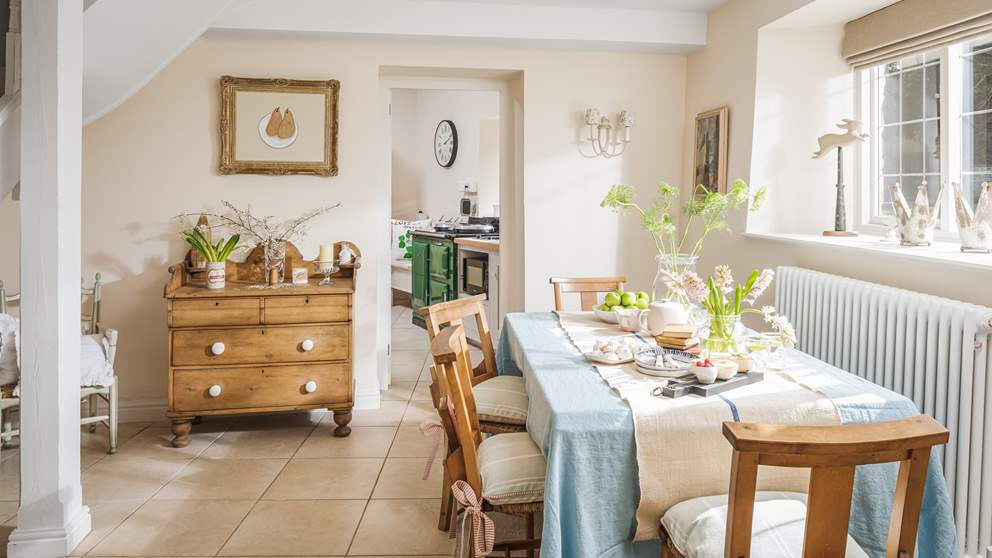 The pretty dining room is the perfect setting for sumptuous meals