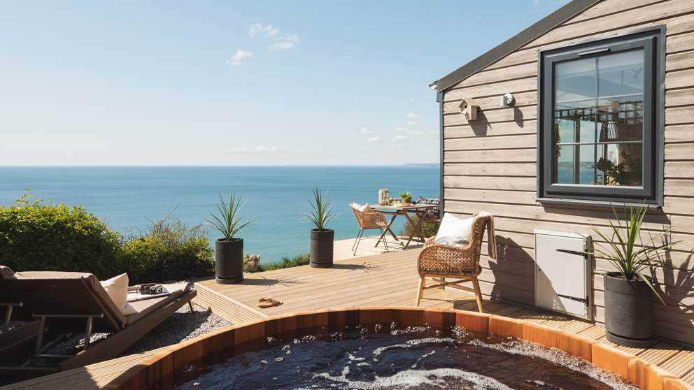 With blissful views wherever you sit, we think the hot tub might be our favourite, whether its basking in the sun or watching the stars at night