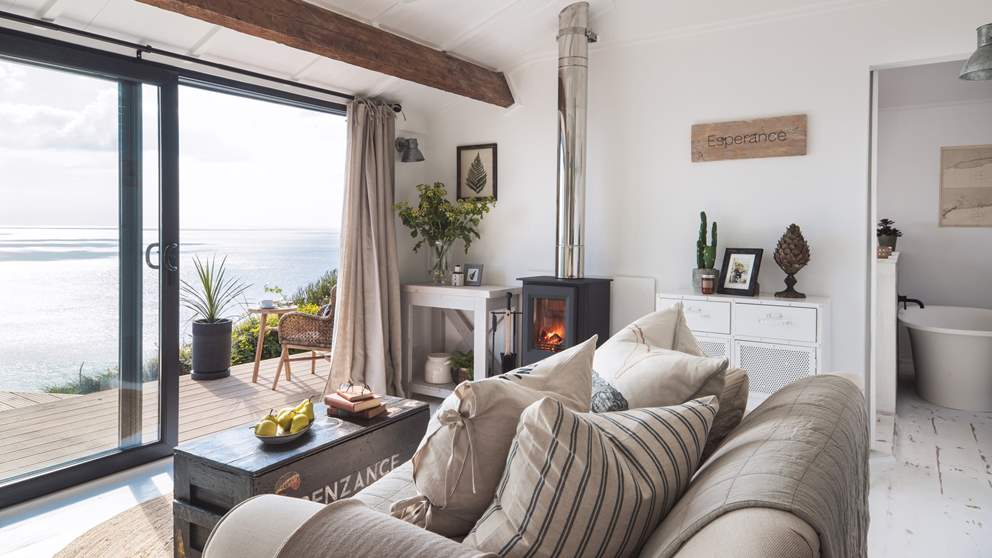 We're dreaming of lounging here on the sofa, gazing out over the sea...bliss!