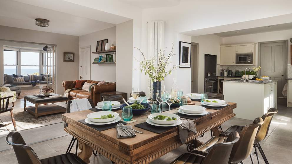 The open plan living space is the perfect setting for informal get togethers