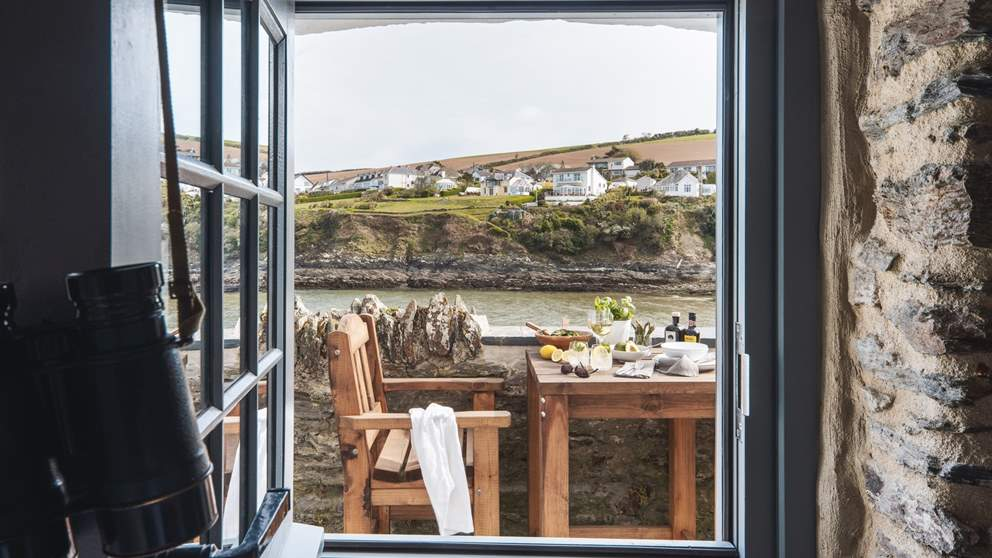 The postcard-perfect view from the bedroom
