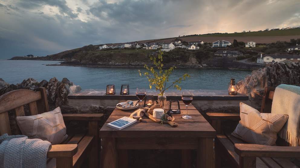 Take in the view whilst dining by candlelight - just dreamy!