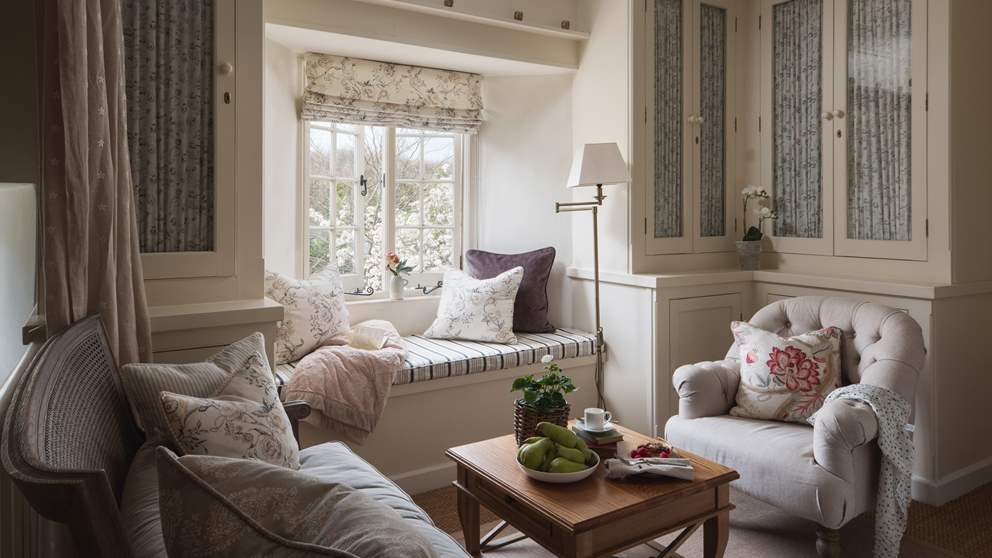 The beautiful upstairs sitting room is the perfect spot for gathering together