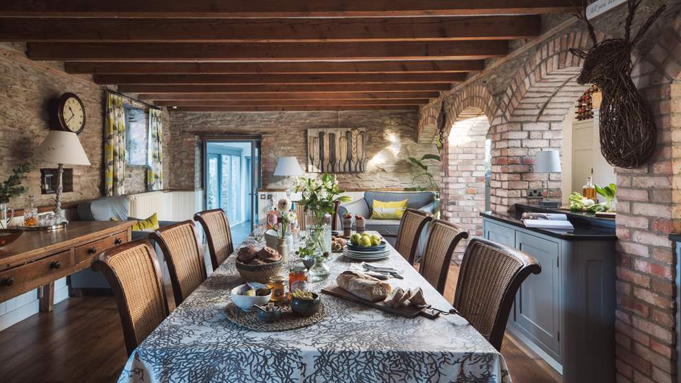 The incredible, characterful dining room - the perfect setting for dinner parties