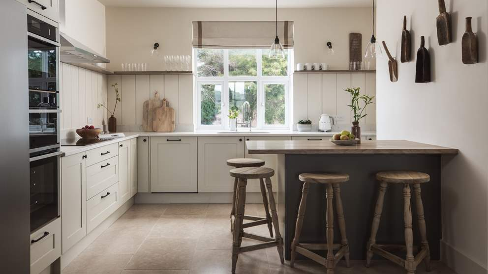 The gorgeous kitchen, full of everything you'll need to rustle up feasts
