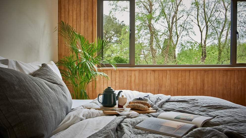 The gorgeous bedrooms with views over the trees, the perfect setting for long lie ins