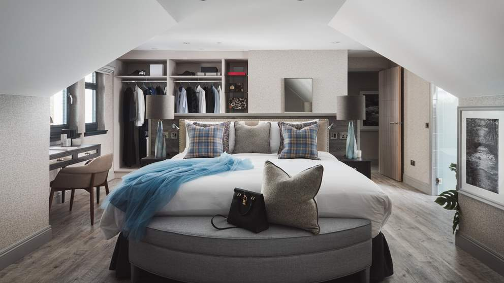 Each bedroom is just lovely, effortlessly blending boutique hotel style with wild Scottish luxury