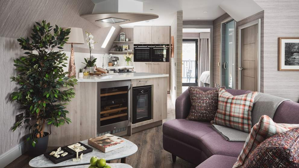 The fabulous open plan living space is perfect for get-togethers