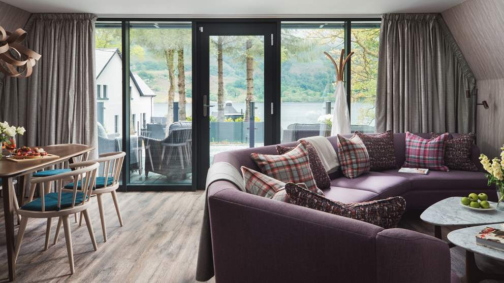 The fabulous open-plan living space is great for get-togethers