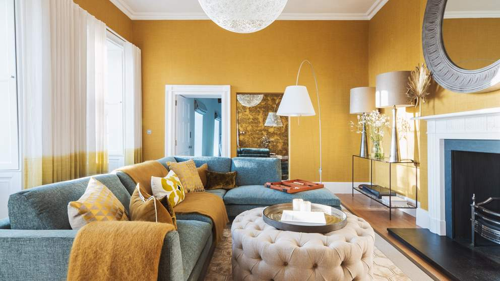 The super sunny sitting room, situated on the first floor