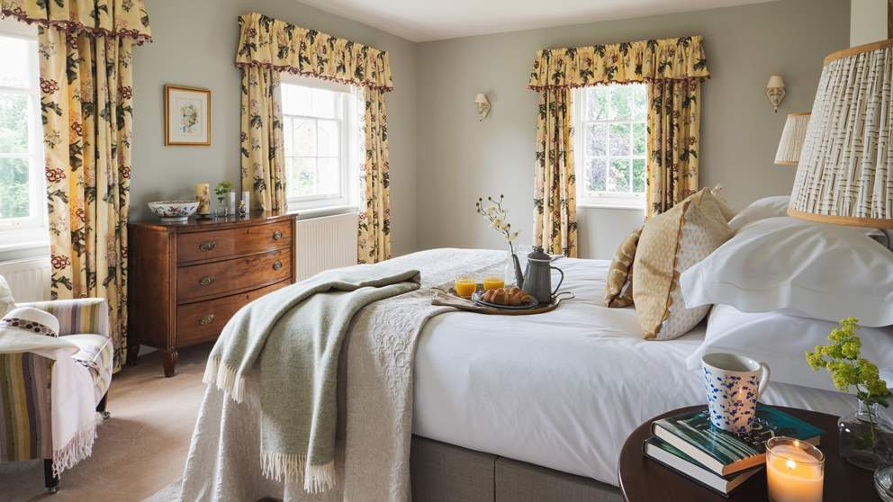 One of the two beautiful bedrooms, with dual aspect windows