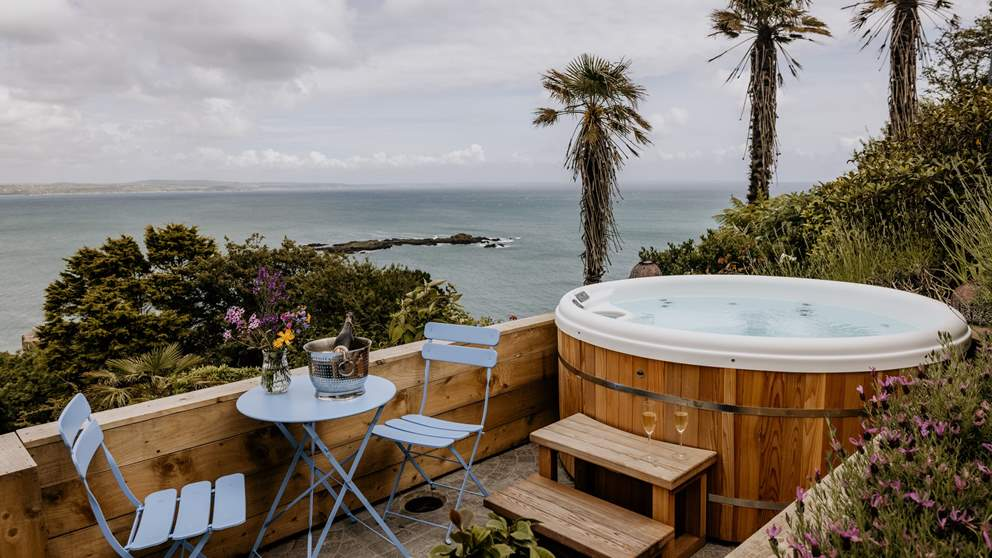Welcome to First Light, our Cornish homestay with stunning sea views and a hot tub