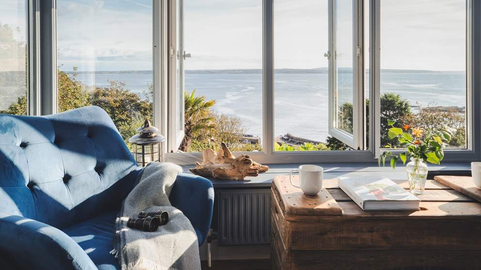 Curl up with a book or simply drift off, watching the boats slip by and the Lizard Peninsula in the distance...