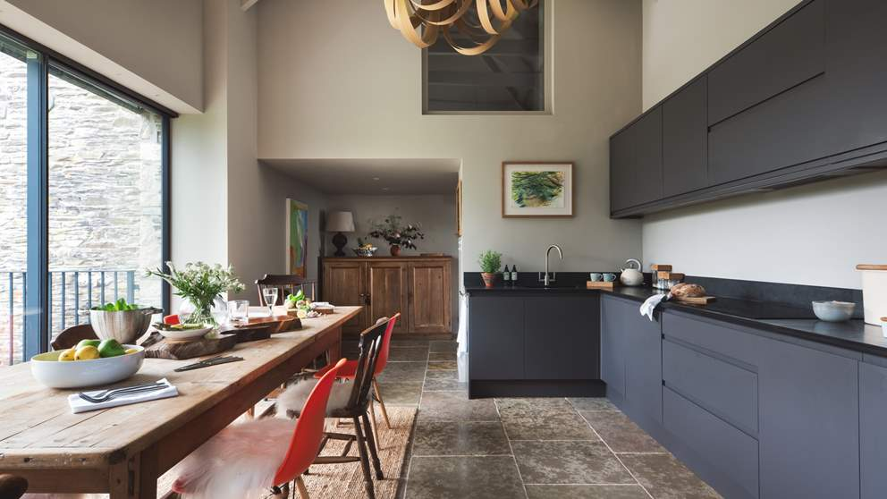 This stunning kitchen space is a dream for whipping up a family feast or relishing pared-back brunches...