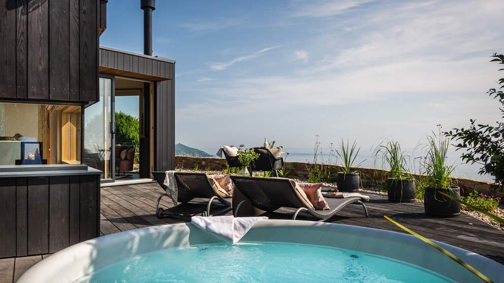 Relish a relaxed barbecue lunch before champagne in the hot tub as the sun begins to set...