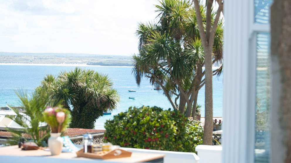 Relish in this magnificence sea view over St Ives Bay.